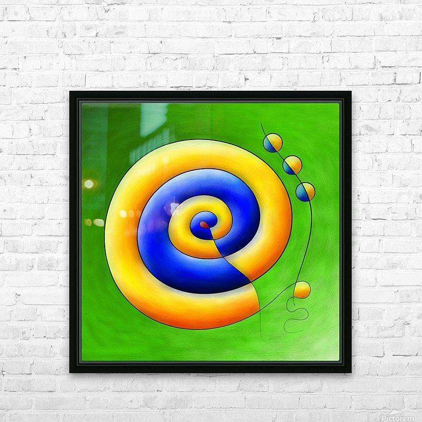 Neosmirana - running space snail HD Sublimation Metal print with Decorating Float Frame (BOX)