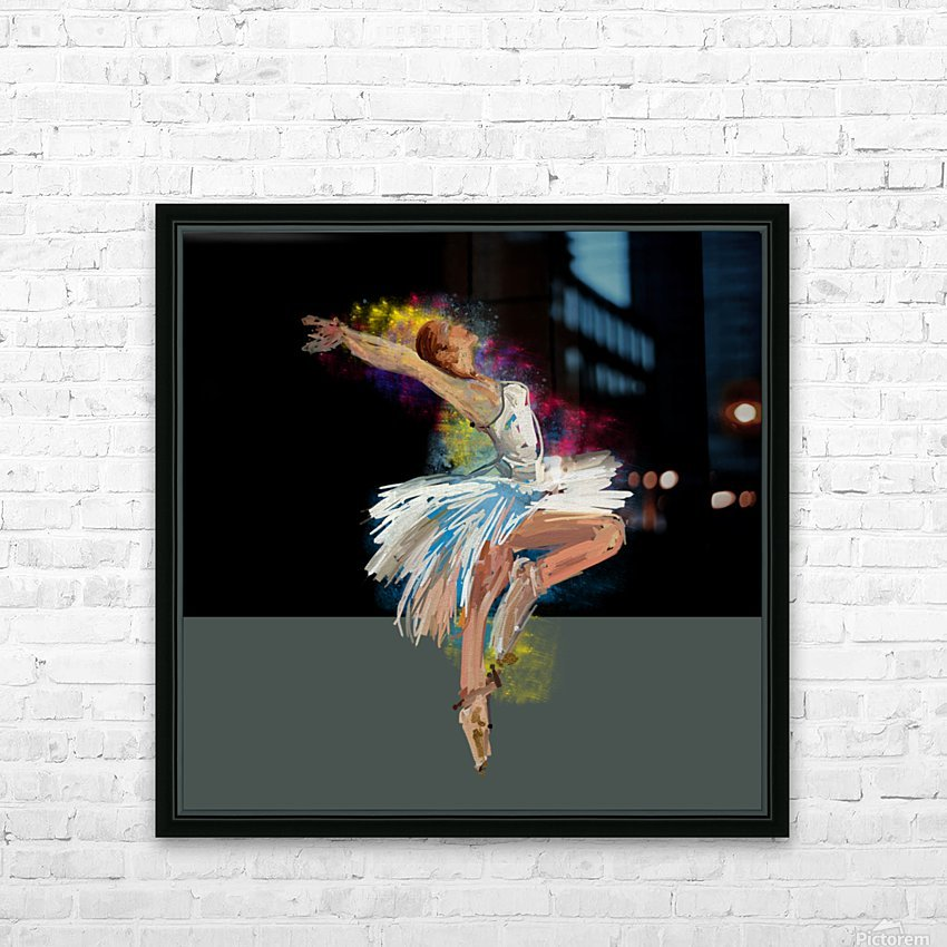 Ballet dancer painting art  HD Sublimation Metal print with Decorating Float Frame (BOX)