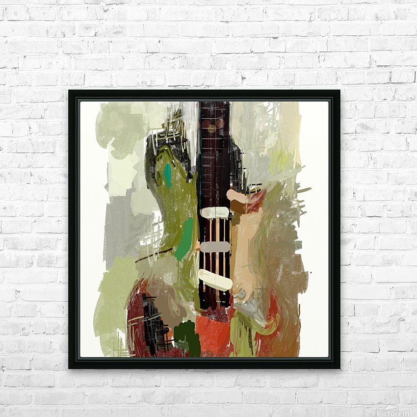 abstract guitar painting  HD Sublimation Metal print with Decorating Float Frame (BOX)
