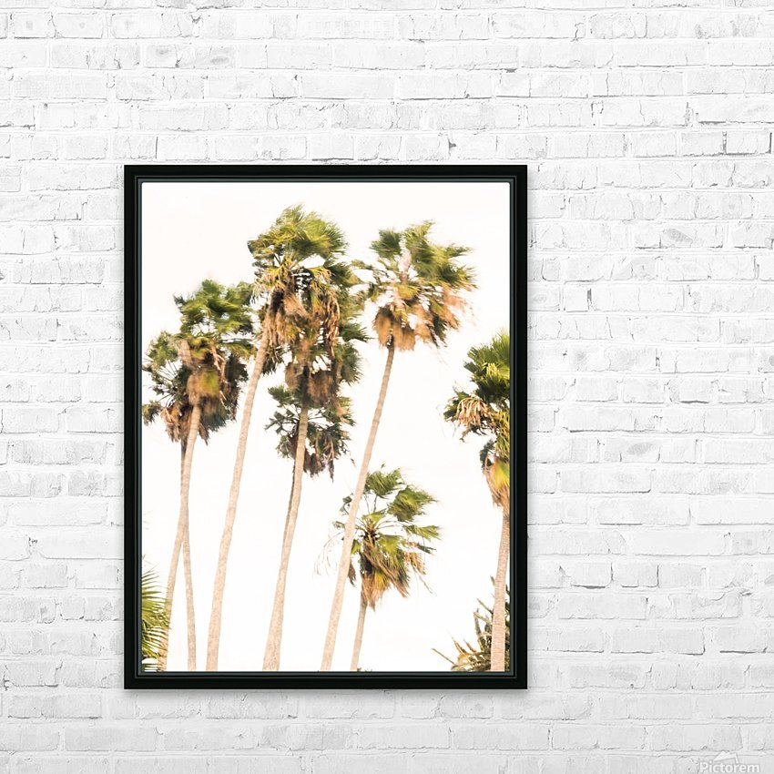 SWAYING PALMS HD Sublimation Metal print with Decorating Float Frame (BOX)