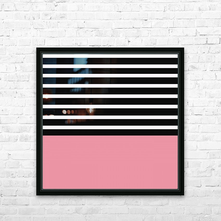 Black & White Stripes with Cherry Patch HD Sublimation Metal print with Decorating Float Frame (BOX)