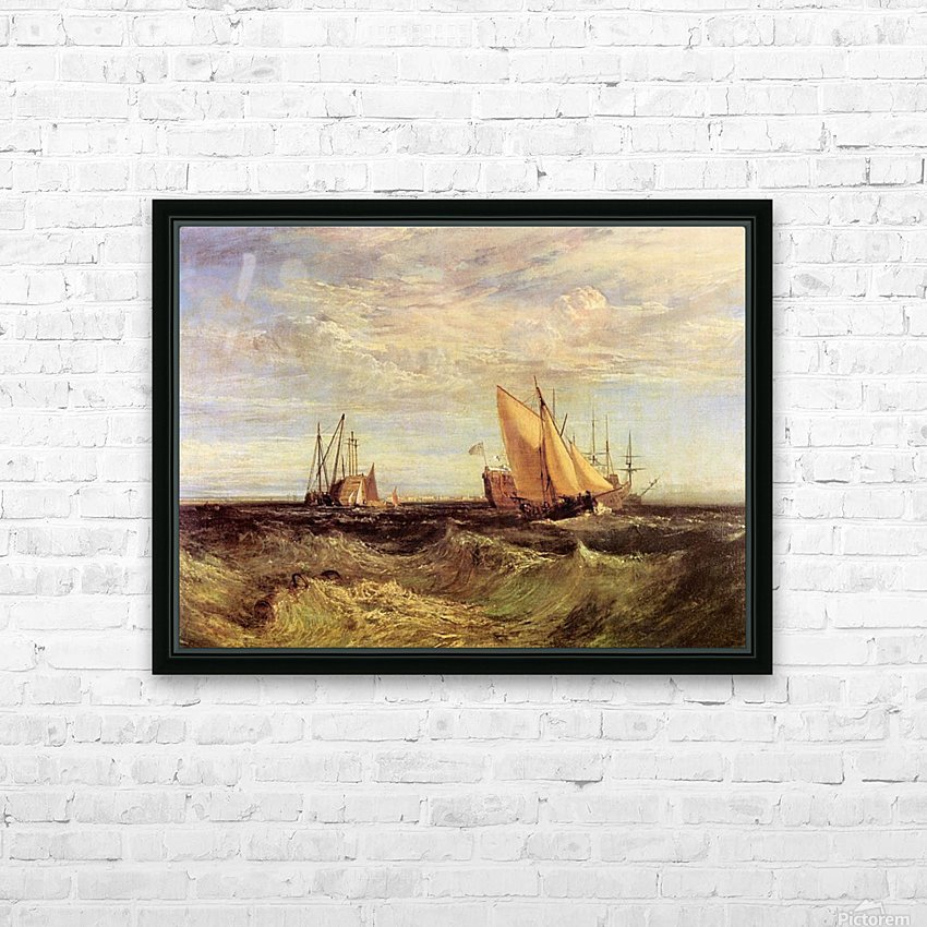 Thames at the Medway by Joseph Mallord Turner HD Sublimation Metal print with Decorating Float Frame (BOX)