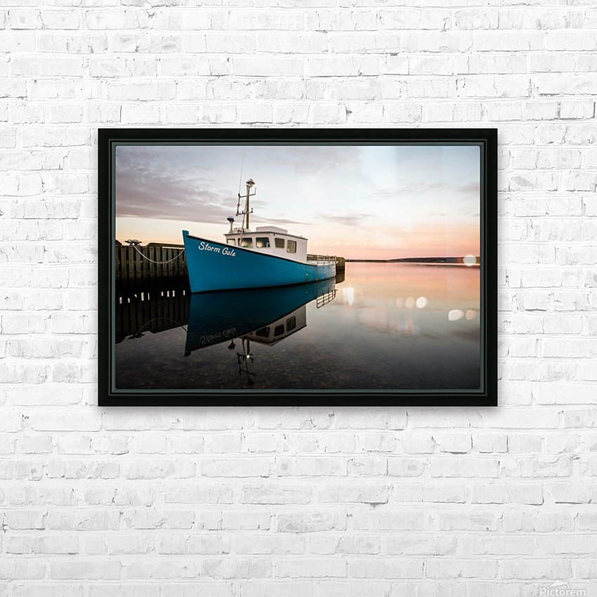 Storm Gale HD Sublimation Metal print with Decorating Float Frame (BOX)