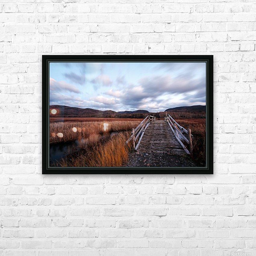 Passing Clouds HD Sublimation Metal print with Decorating Float Frame (BOX)