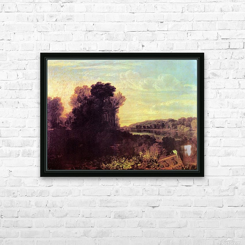 Thames at Weybridge by Joseph Mallord Turner HD Sublimation Metal print with Decorating Float Frame (BOX)