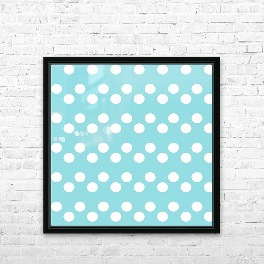Island Paradise Polka Dots HD Sublimation Metal print with Decorating Float Frame (BOX)