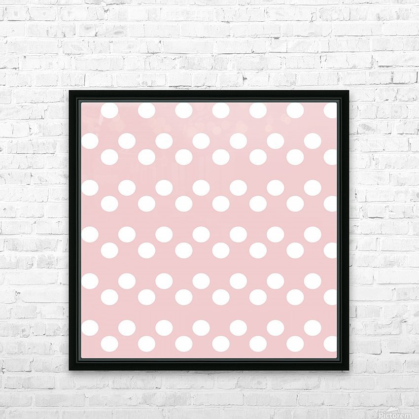 BISQUE Polka Dots HD Sublimation Metal print with Decorating Float Frame (BOX)
