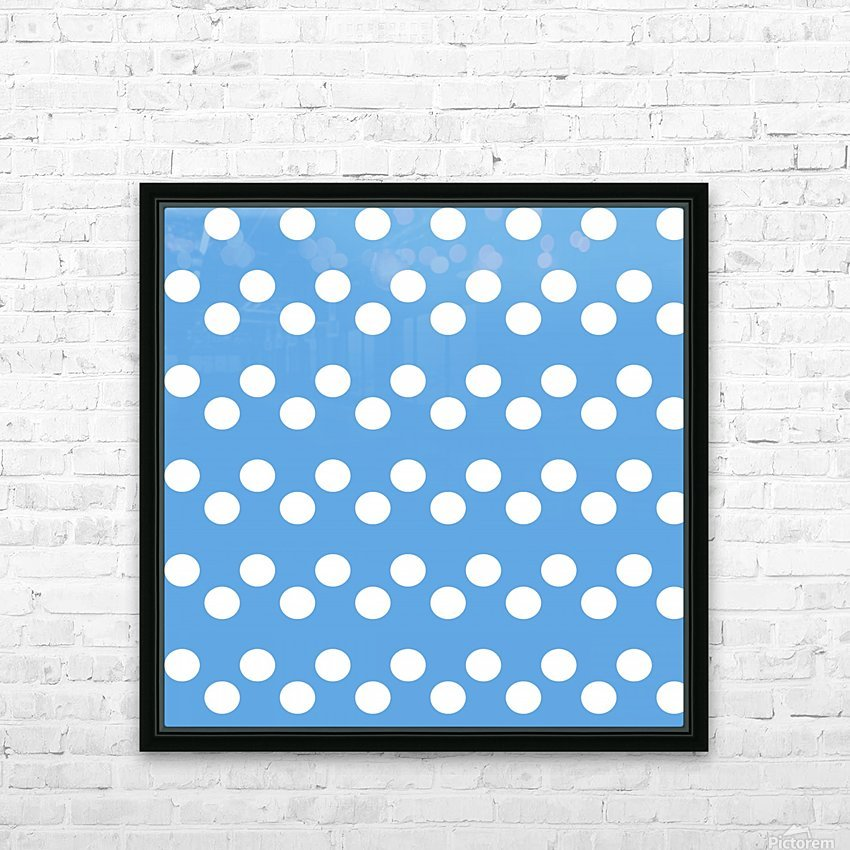 CORNFLOWER Polka Dots HD Sublimation Metal print with Decorating Float Frame (BOX)
