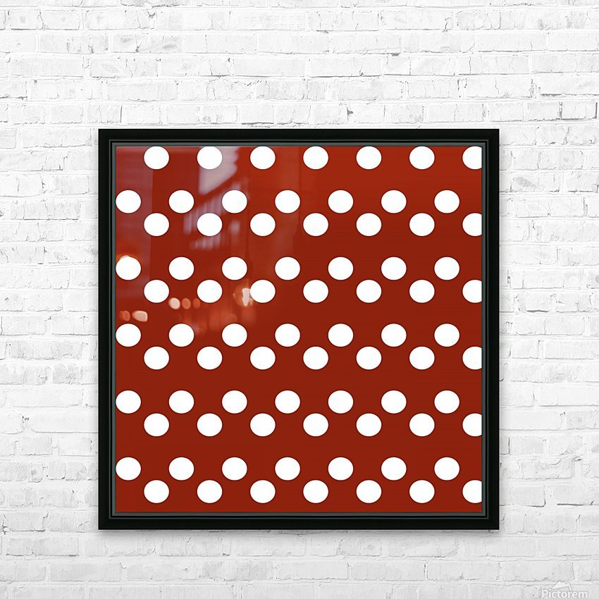 Crimson Polka Dots HD Sublimation Metal print with Decorating Float Frame (BOX)