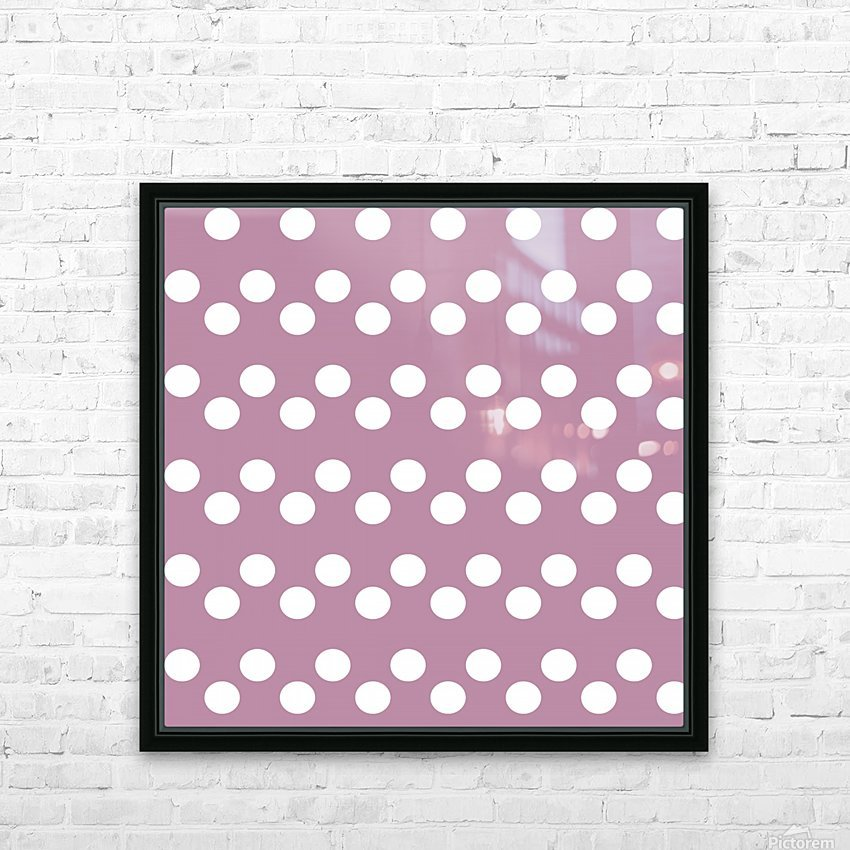 DARK MAUVE Polka Dots HD Sublimation Metal print with Decorating Float Frame (BOX)