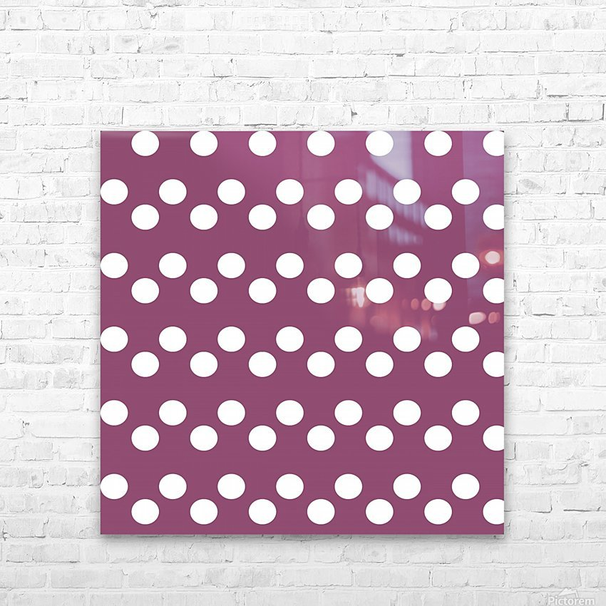 BURGUNDY Polka Dots HD Sublimation Metal print with Decorating Float Frame (BOX)