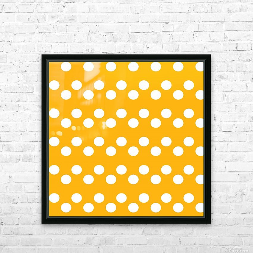 SUNFLOWER Polka Dots HD Sublimation Metal print with Decorating Float Frame (BOX)