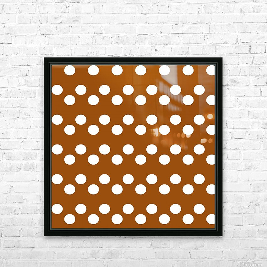 RUST Polka Dots HD Sublimation Metal print with Decorating Float Frame (BOX)