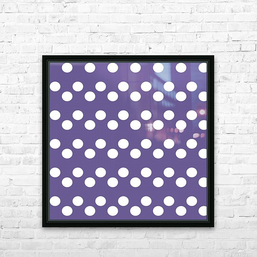 Ultra Violet Polka Dots HD Sublimation Metal print with Decorating Float Frame (BOX)