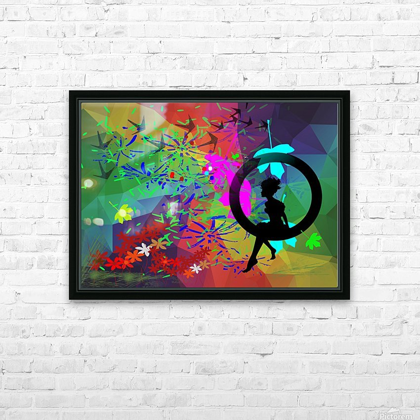 Lady in the garden  HD Sublimation Metal print with Decorating Float Frame (BOX)