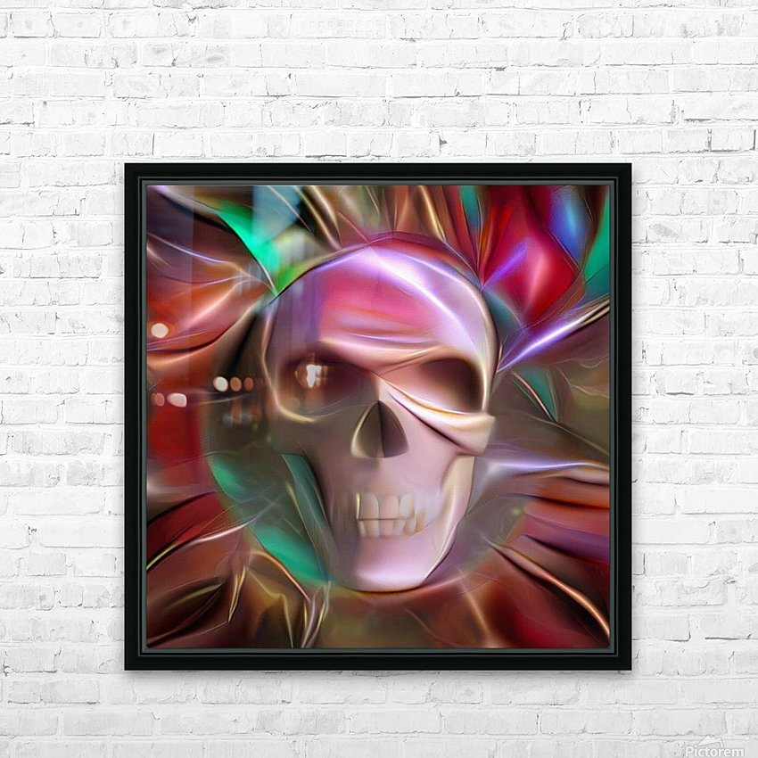 Glowing Skull HD Sublimation Metal print with Decorating Float Frame (BOX)