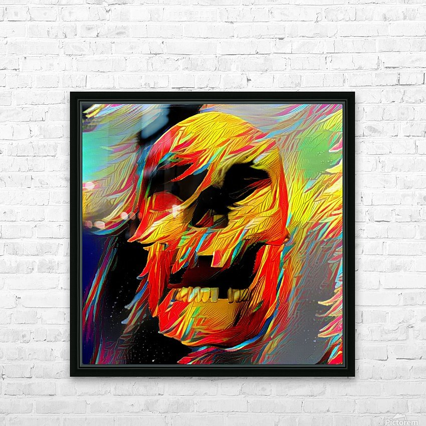Colorful Skull HD Sublimation Metal print with Decorating Float Frame (BOX)