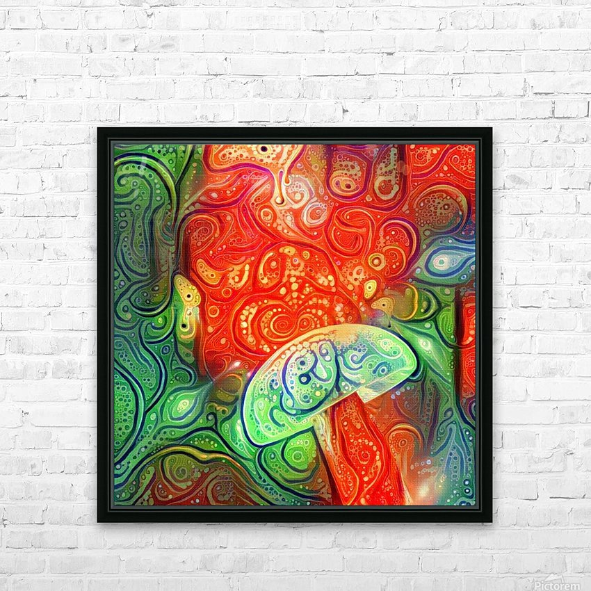 Hallucinogenic Mushroom HD Sublimation Metal print with Decorating Float Frame (BOX)