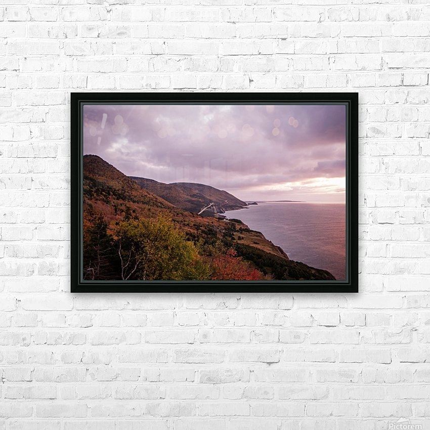 Cabot Trail in the fall HD Sublimation Metal print with Decorating Float Frame (BOX)