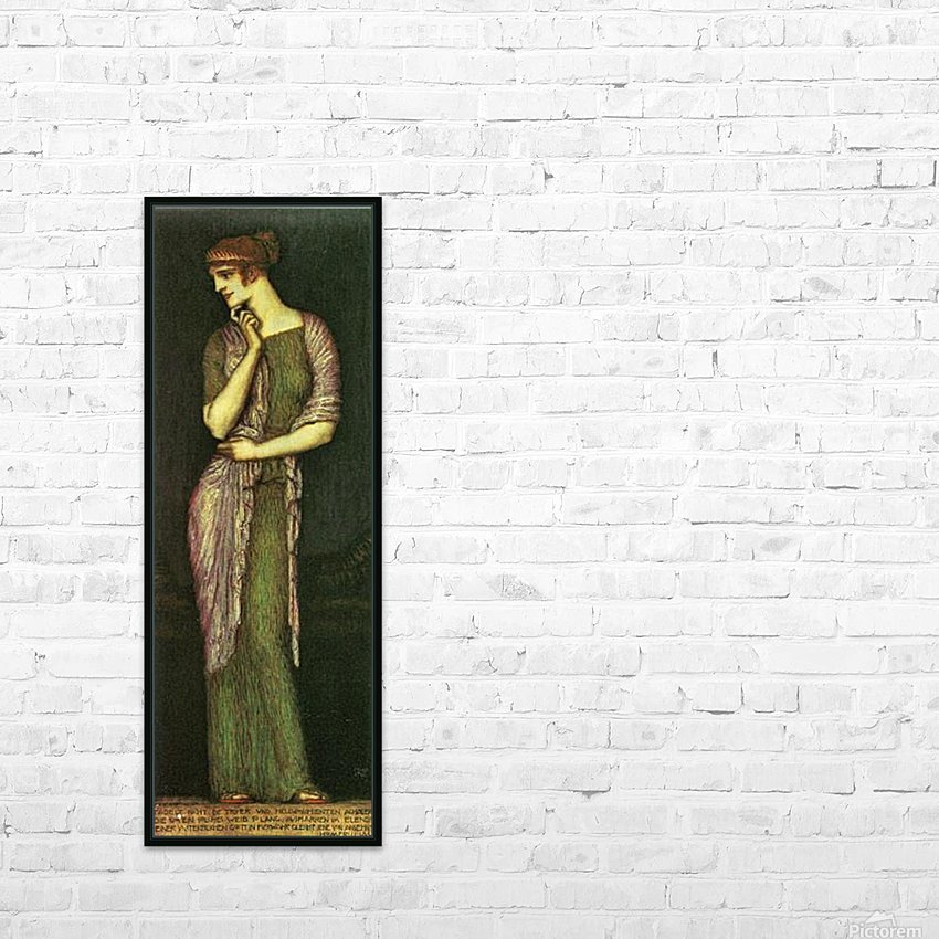 The beautiful Helena by Franz von Stuck HD Sublimation Metal print with Decorating Float Frame (BOX)