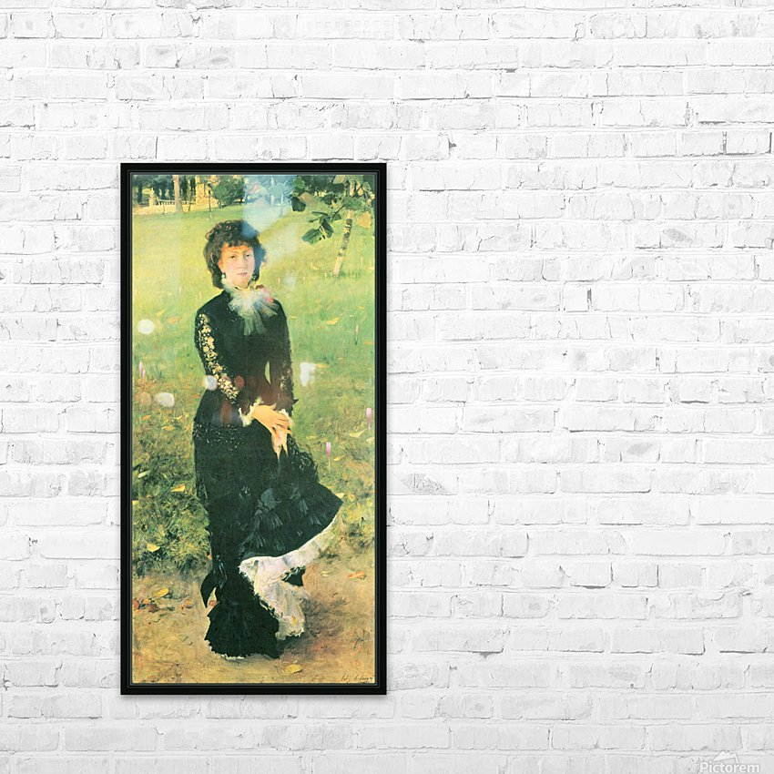 Madame Edouard Pailleron by John Singer Sargent HD Sublimation Metal print with Decorating Float Frame (BOX)
