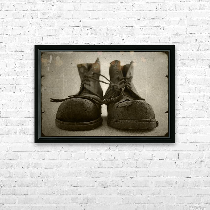 OLD BOOTS HD Sublimation Metal print with Decorating Float Frame (BOX)