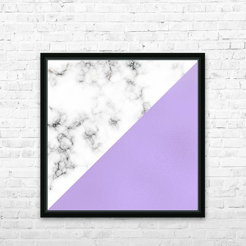 ABSTRACT MODERN PURPLE GLASS MARBLE HD Sublimation Metal print with Decorating Float Frame (BOX)
