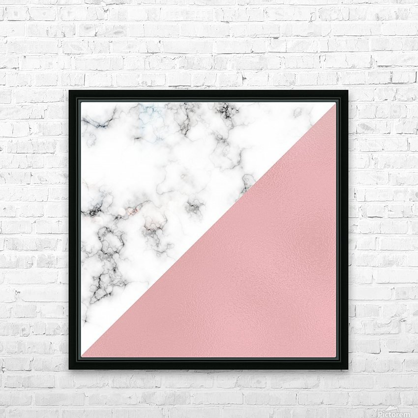 ABSTRACT MODERN ROSE GLASS MARBLE HD Sublimation Metal print with Decorating Float Frame (BOX)