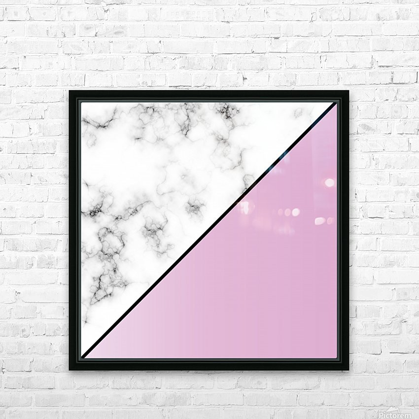 ABSTRACT MODERN PINKY MARBLE HD Sublimation Metal print with Decorating Float Frame (BOX)