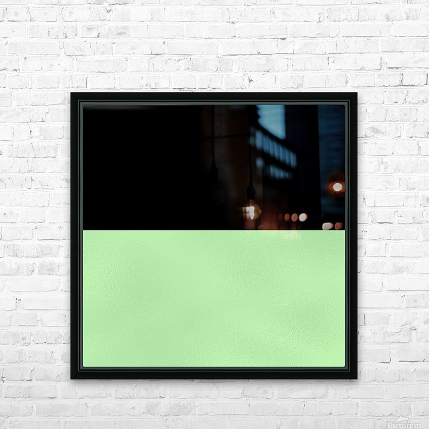 ABSTRACT GREEN GLITTER HD Sublimation Metal print with Decorating Float Frame (BOX)