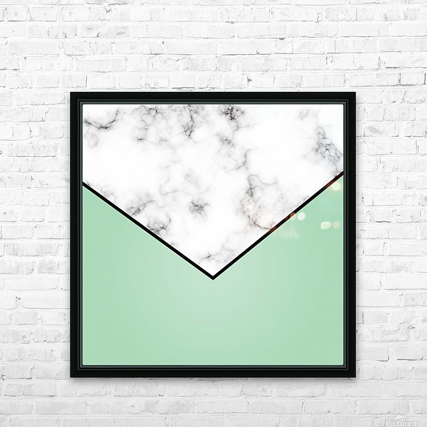 ABSTRACT GREEN PASTEL MODERN MARBLE HD Sublimation Metal print with Decorating Float Frame (BOX)