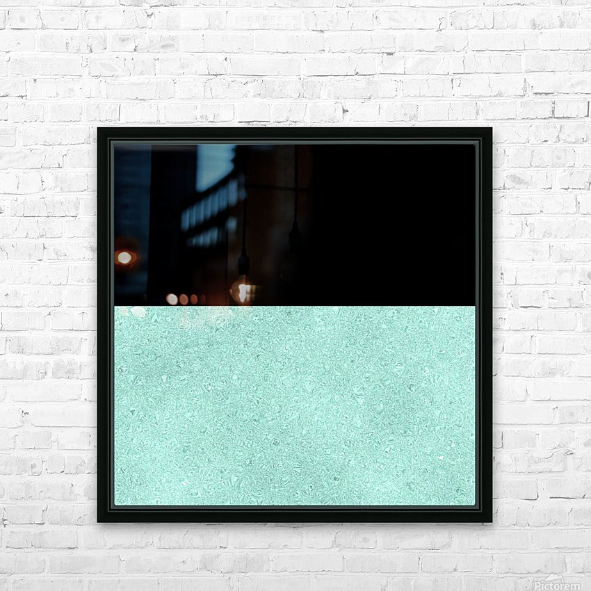 ABSTRACT TURQUOISE GLITTER HD Sublimation Metal print with Decorating Float Frame (BOX)