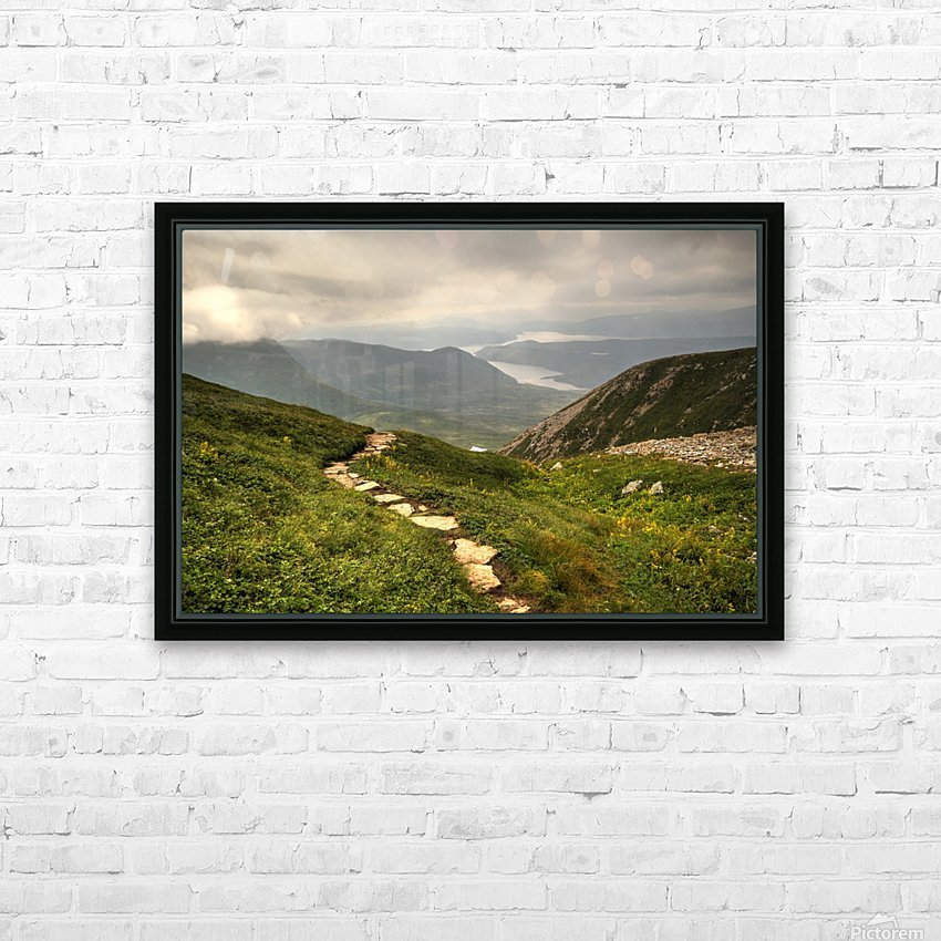 Grosmorne Mountain HD Sublimation Metal print with Decorating Float Frame (BOX)