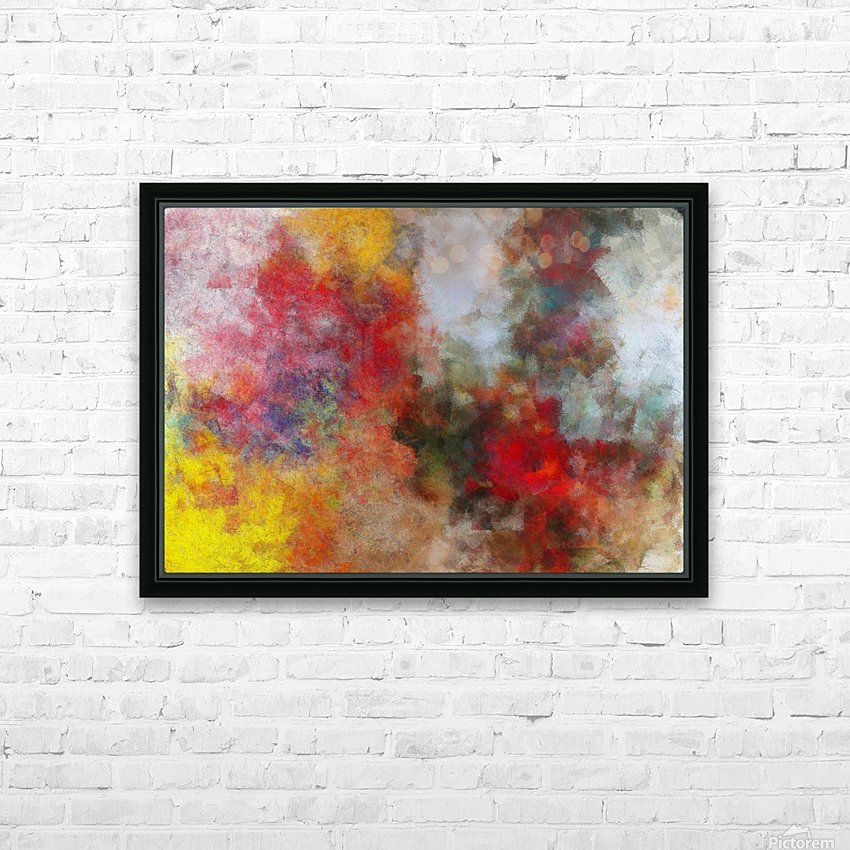 Winter Roses HD Sublimation Metal print with Decorating Float Frame (BOX)