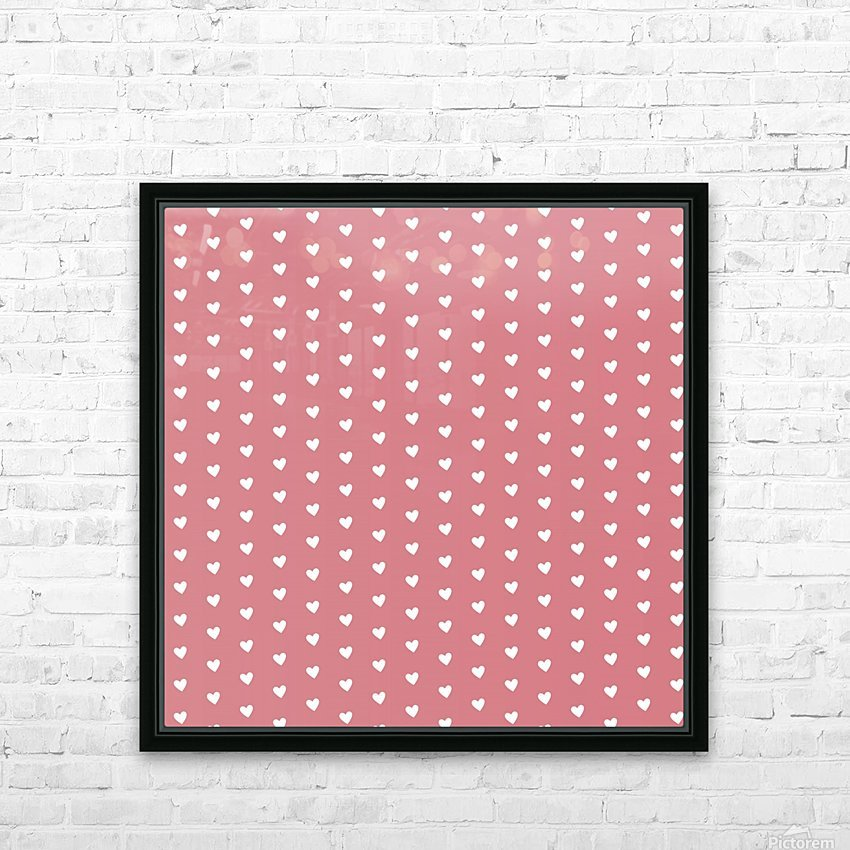 Light Red Heart Shape Pattern HD Sublimation Metal print with Decorating Float Frame (BOX)