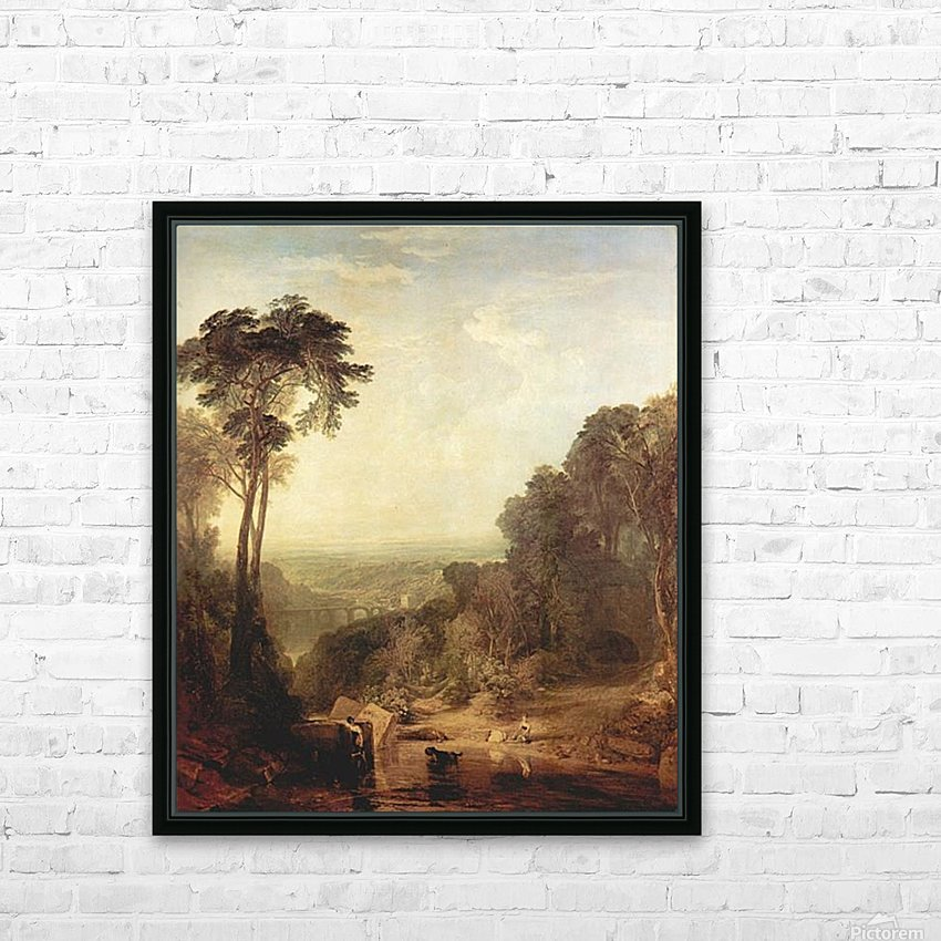 The crossing of the stream by Joseph Mallord Turner HD Sublimation Metal print with Decorating Float Frame (BOX)