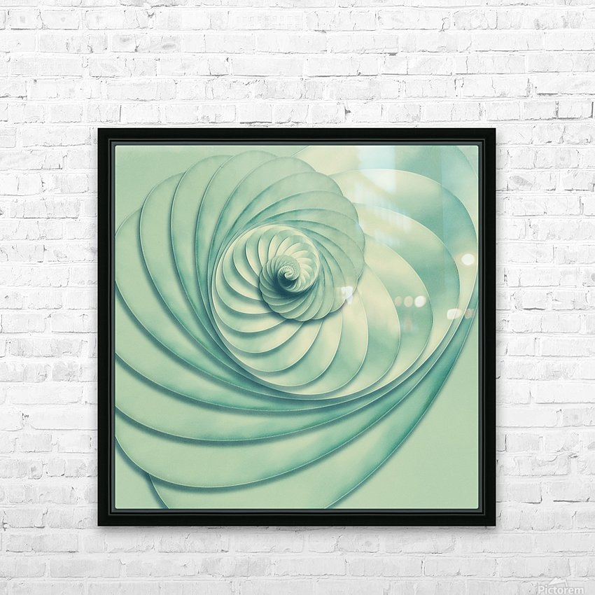 Composition in Celadon HD Sublimation Metal print with Decorating Float Frame (BOX)
