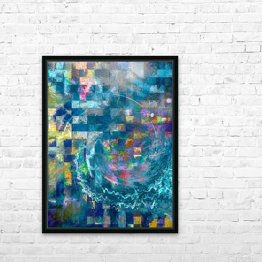 A Vision in Blue HD Sublimation Metal print with Decorating Float Frame (BOX)