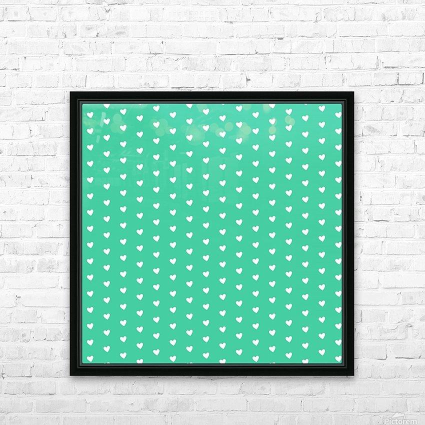 Shamrock Heart Shape Pattern HD Sublimation Metal print with Decorating Float Frame (BOX)