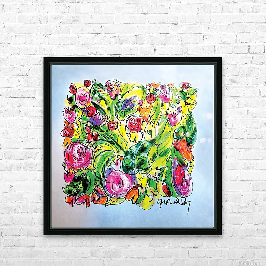 Floral Color Expression HD Sublimation Metal print with Decorating Float Frame (BOX)
