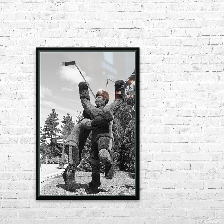 The winning goal in the 72 Canada Russia Hockey series b&w HD Sublimation Metal print with Decorating Float Frame (BOX)