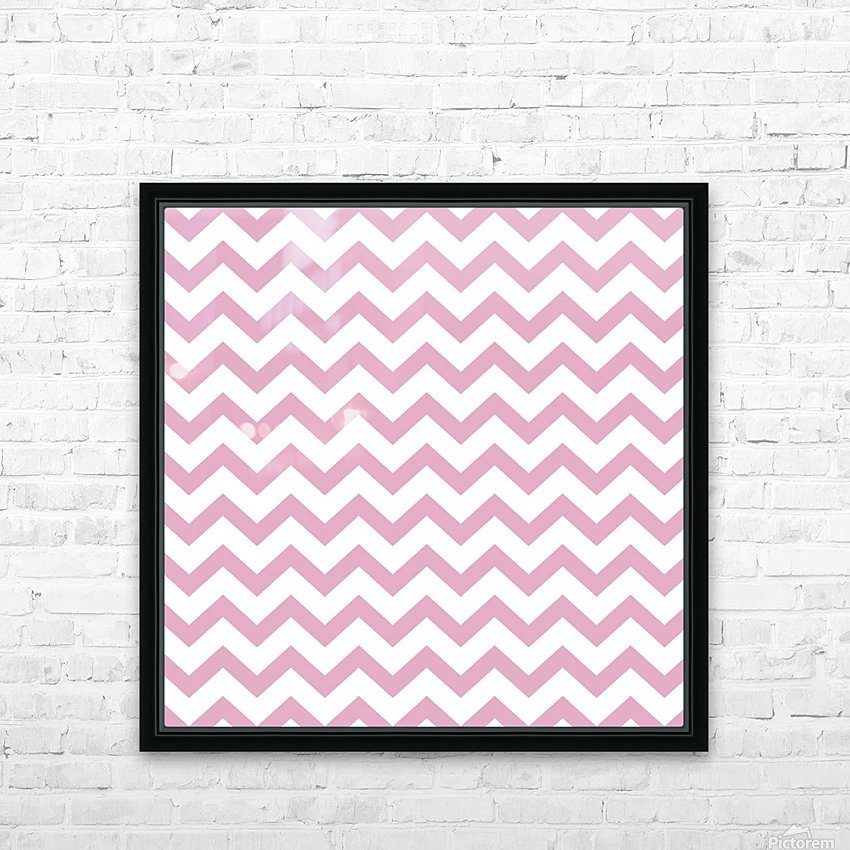 AZALEA CHEVRON HD Sublimation Metal print with Decorating Float Frame (BOX)