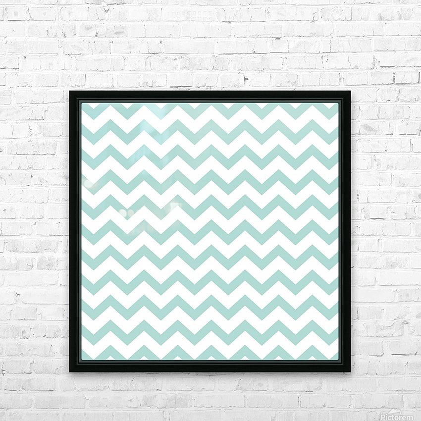 ARCTIC CHEVRON HD Sublimation Metal print with Decorating Float Frame (BOX)
