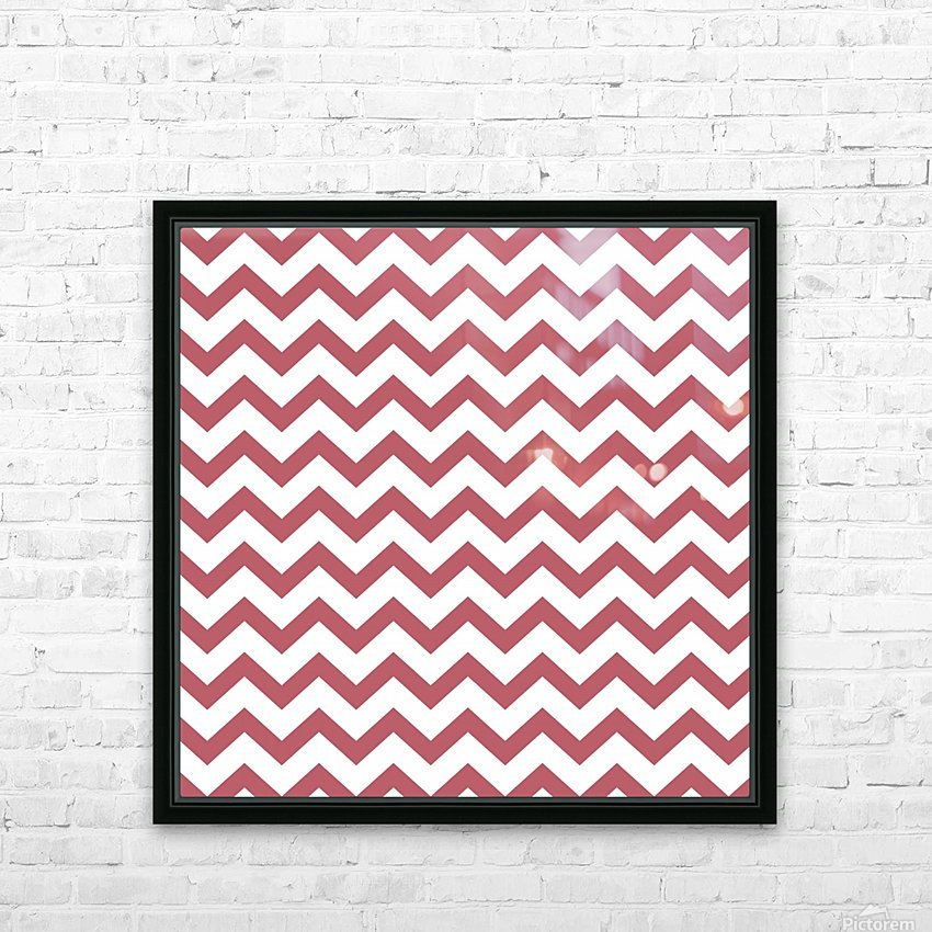 BERRY CHEVRON HD Sublimation Metal print with Decorating Float Frame (BOX)