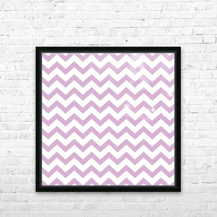 ORCHID CHEVRON HD Sublimation Metal print with Decorating Float Frame (BOX)