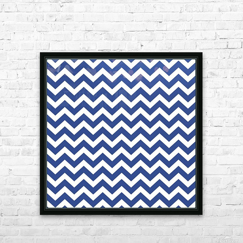 ROYAL BLUE CHEVRON HD Sublimation Metal print with Decorating Float Frame (BOX)