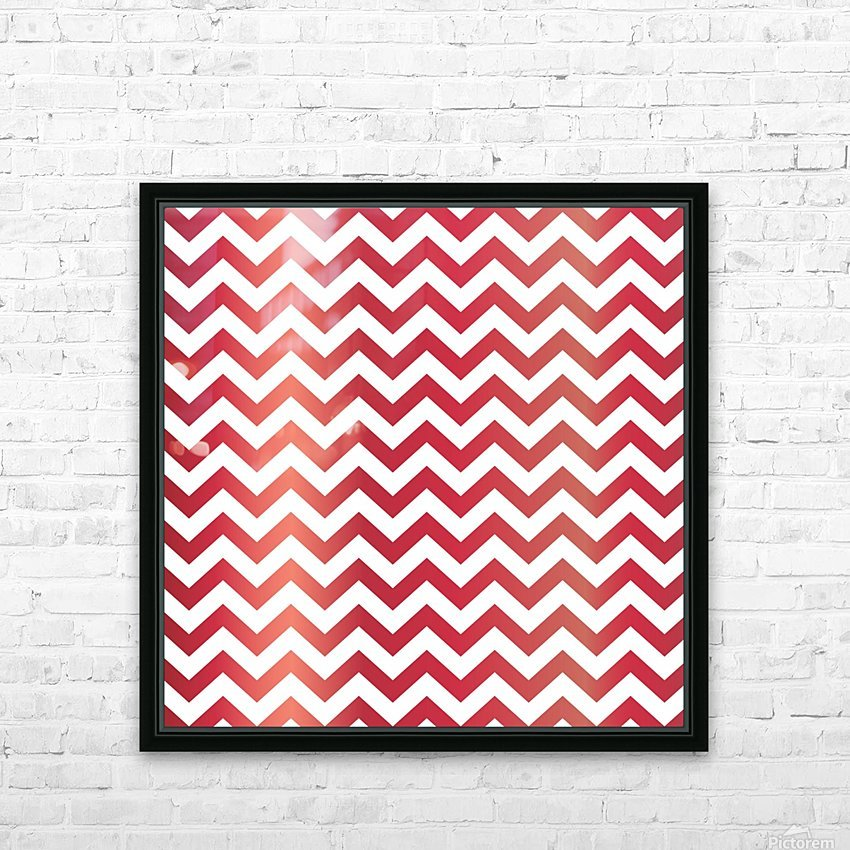 APPLE CHEVRON HD Sublimation Metal print with Decorating Float Frame (BOX)