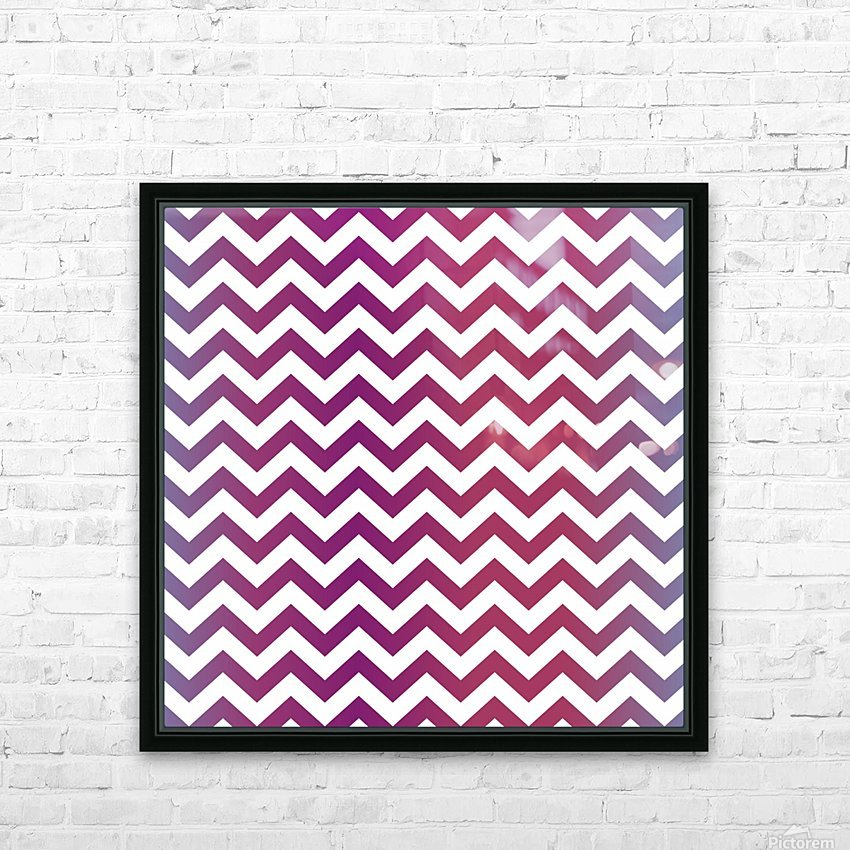 PLUM CHEVRON HD Sublimation Metal print with Decorating Float Frame (BOX)
