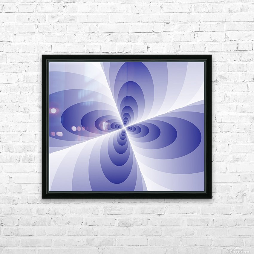 Circles HD Sublimation Metal print with Decorating Float Frame (BOX)