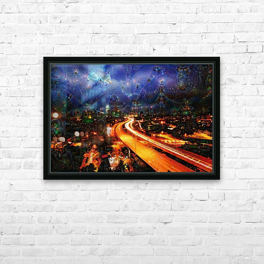 Midnight at the Ol Races HD Sublimation Metal print with Decorating Float Frame (BOX)